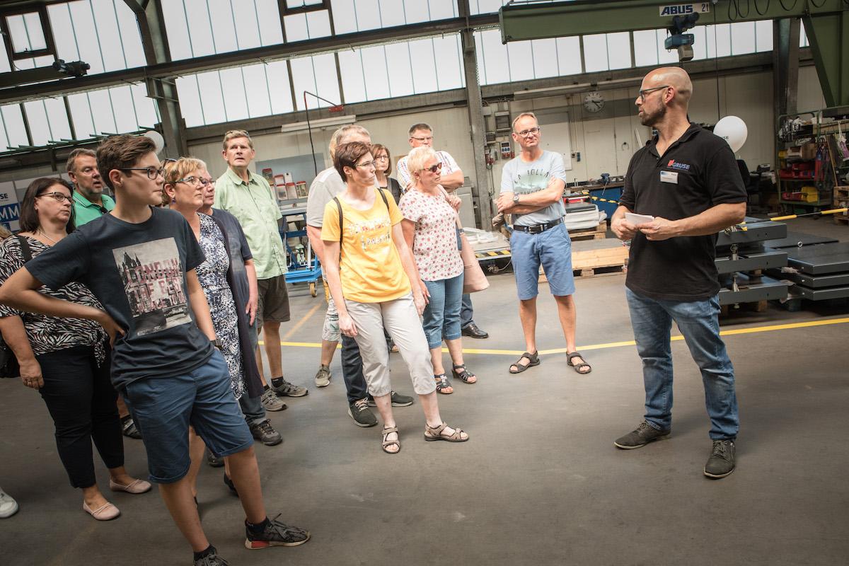 Gruse Betriebsführung mit Vertriebsmitarbeiter Andreas Glausch